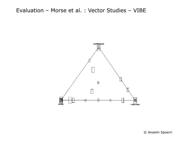 Evaluation – Morse et al. : Vector Studies – VIBE