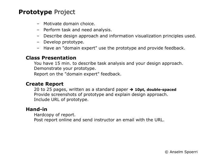 Prototype project