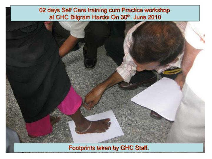 02 days Self Care training cum Practice workshop
