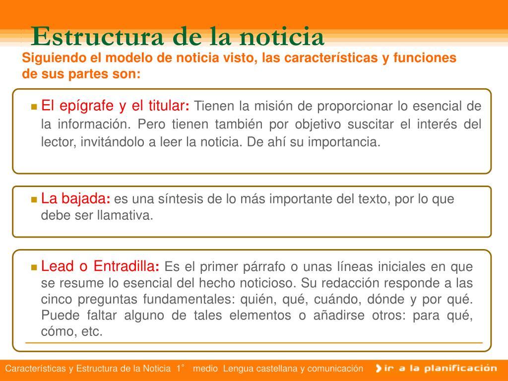 Ppt Textos Informativos La Noticia Powerpoint