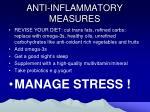 anti inflammatory measures