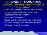 chronic inflammation conclusions supported by extensive research and clinical evidence