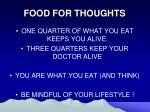 food for thoughts