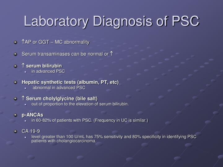 Laboratory Diagnosis of PSC