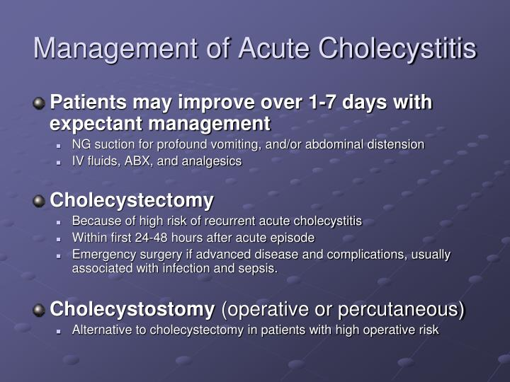 Management of Acute Cholecystitis