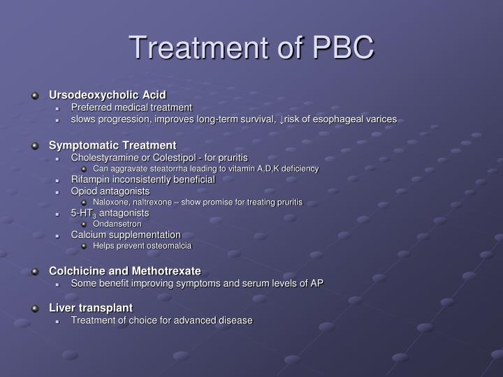 Treatment of PBC