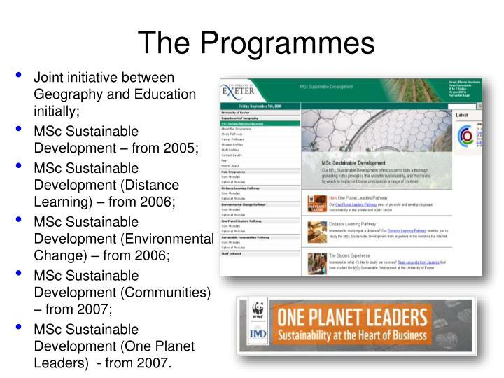 The Programmes