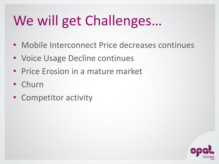 We will get Challenges…