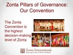 zonta pillars of governance our convention