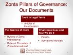 zonta pillars of governance our documents