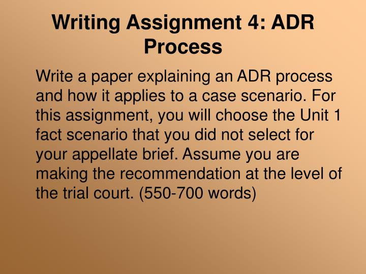 Writing Assignment 4: ADR Process