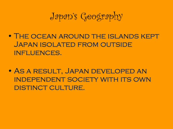 Japan's Geography