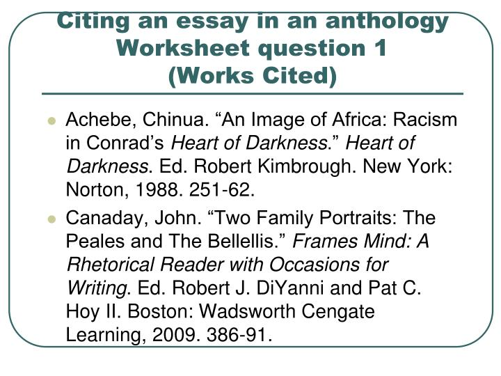 citing works in an essay We work only with the accredited writers who are native english speakers before we hire essay writers and they start working in our company they have to writing an essay on any topic it doesn`t matter whether you need an essay, a review or dissertation, everything will be done according to your own.