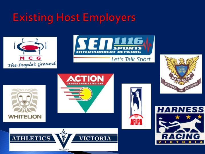 Existing Host Employers