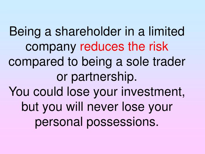 Being a shareholder in a limited company