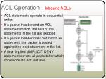 acl operation inbound acls