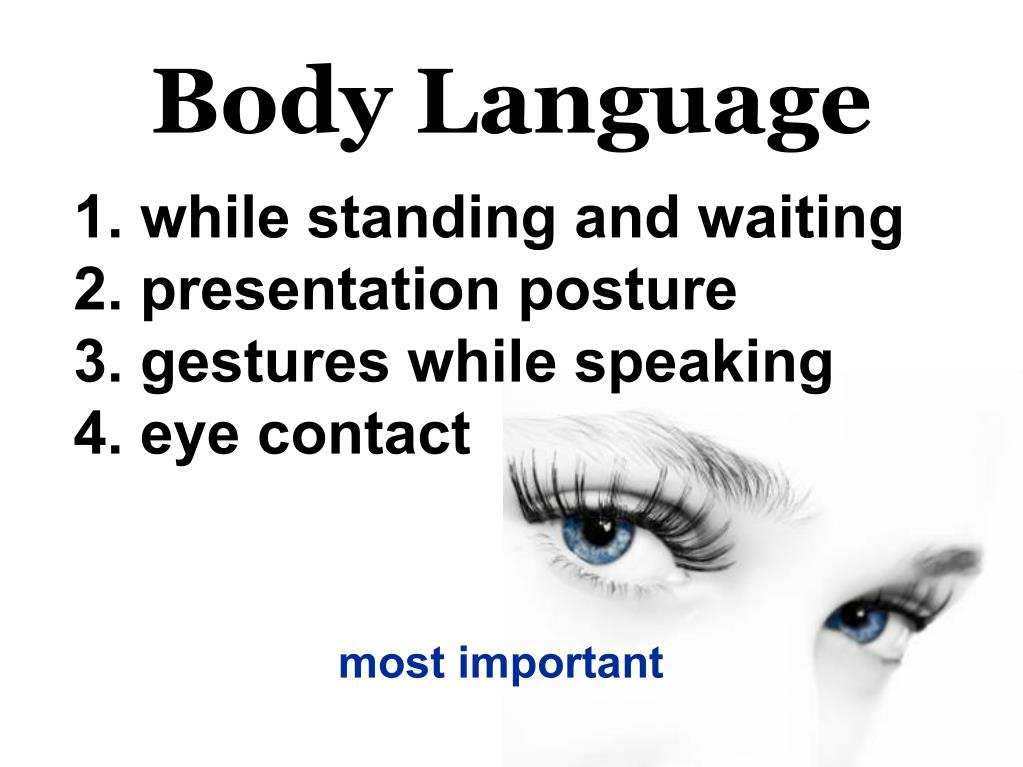 PPT - Body Language PowerPoint Presentation - ID:5508143