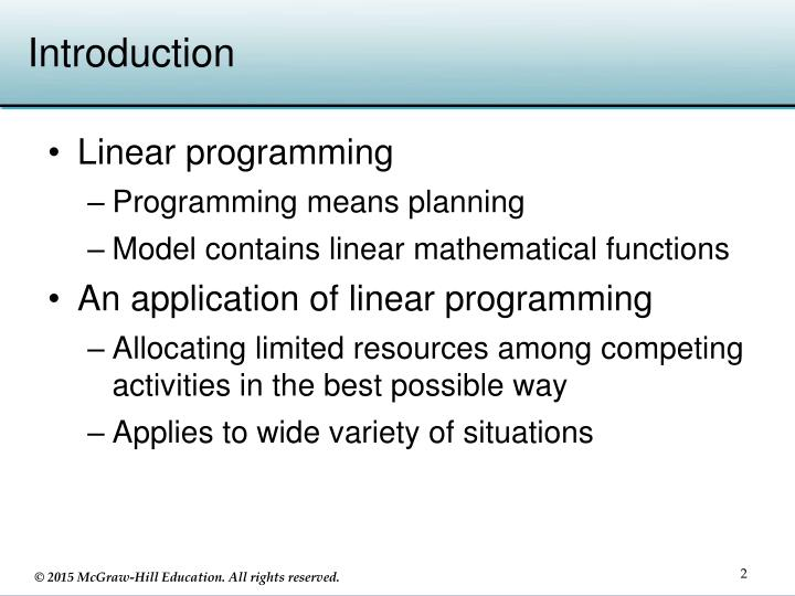 dissertation on linear programming A linear programming model of the fleet provides a composite valuation, which can be used in an online environment managed by a fleet aggregator to allocate feasible energy exchange schedules that decrease the peak electricity demand and reduce the cost to consumers.
