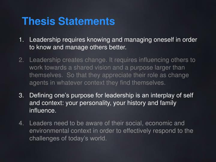self awareness thesis statement