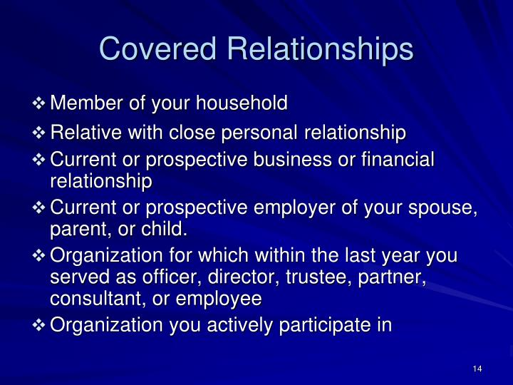 Covered Relationships