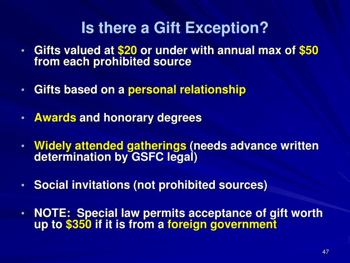 Is there a Gift Exception?