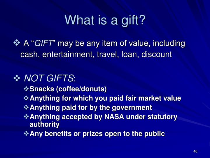 What is a gift