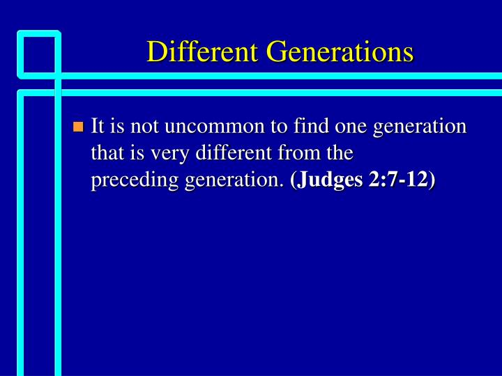 different generations n.