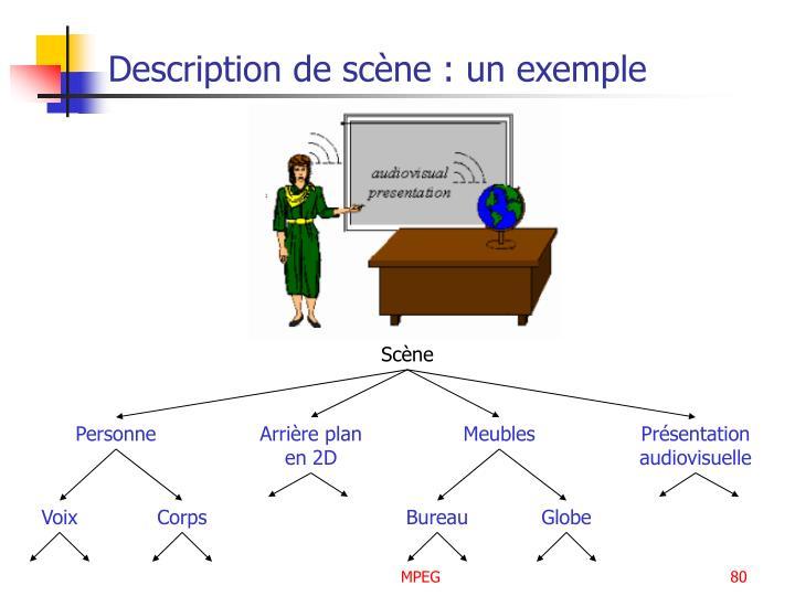 Description de scène : un exemple