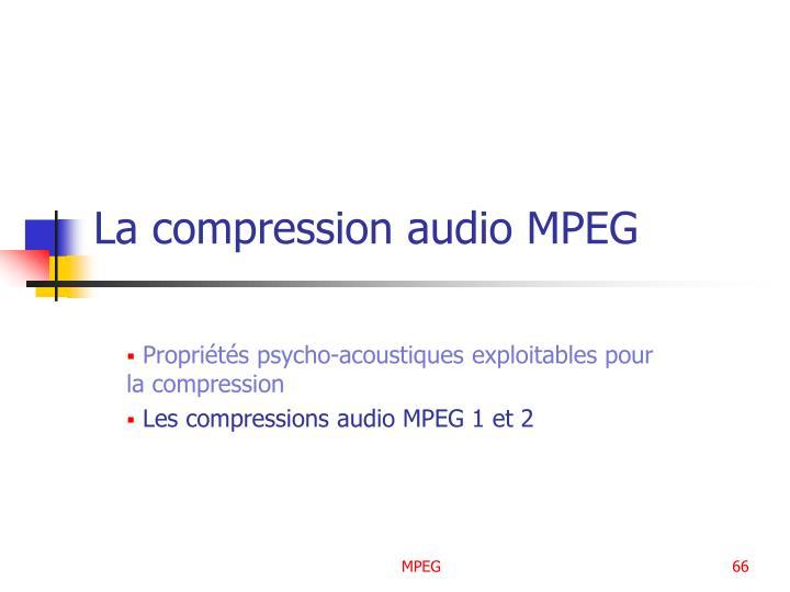 La compression audio MPEG