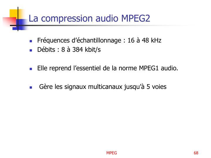 La compression audio MPEG2