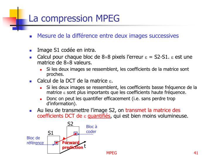 La compression MPEG