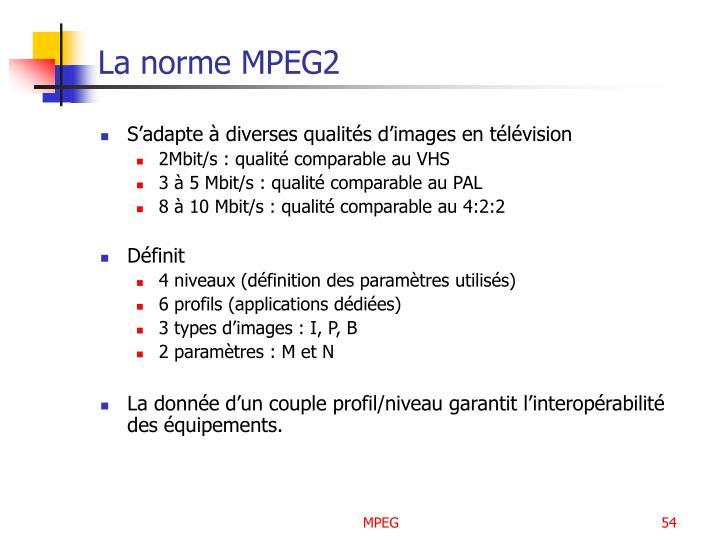 La norme MPEG2