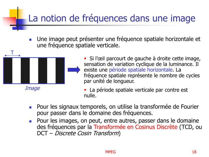 La notion de fréquences dans une image
