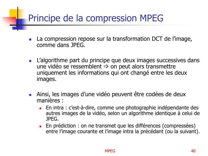 Principe de la compression MPEG