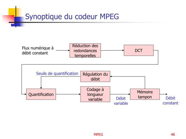 Synoptique du codeur MPEG