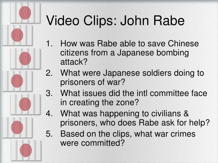 Video Clips: John Rabe