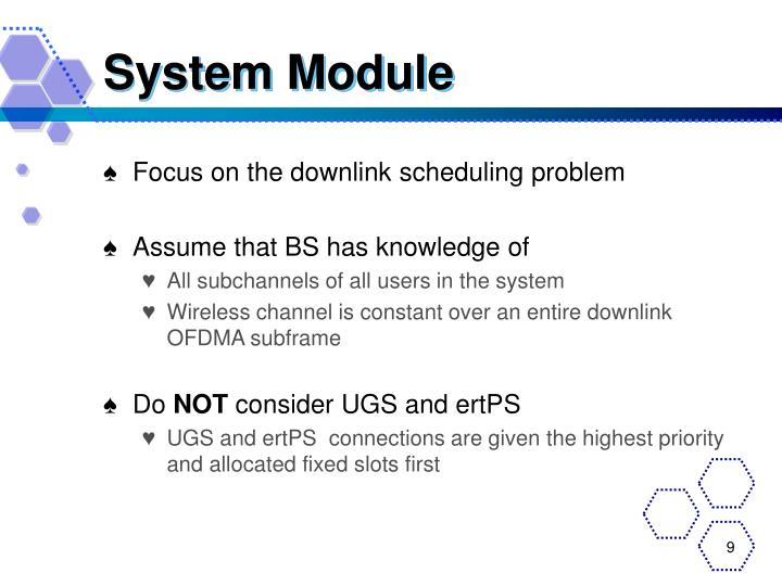System Module