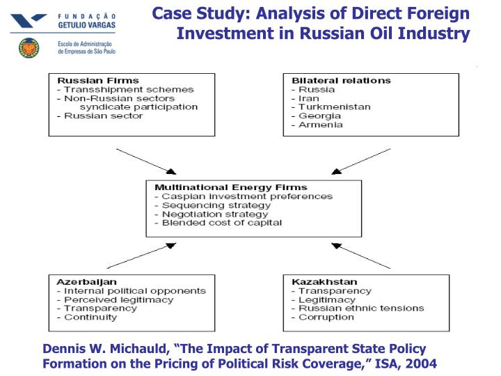 Case Study: Analysis of Direct Foreign Investment in Russian Oil Industry
