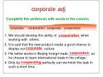 corporate adj
