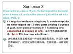 sentence 3