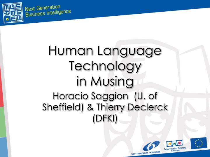 human language technology in musing