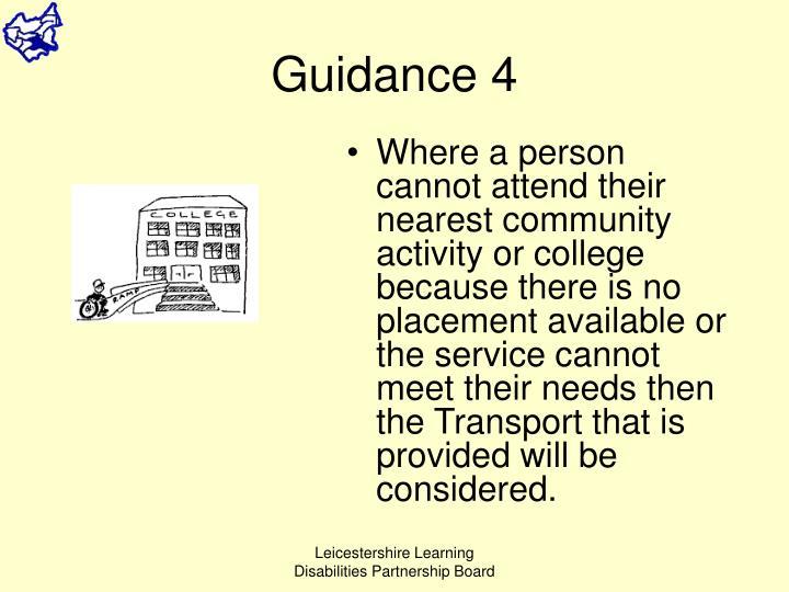 Guidance 4