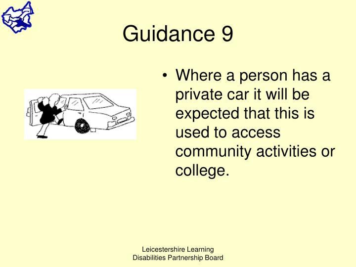 Guidance 9