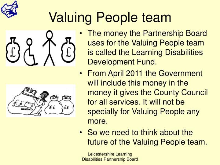 Valuing People team
