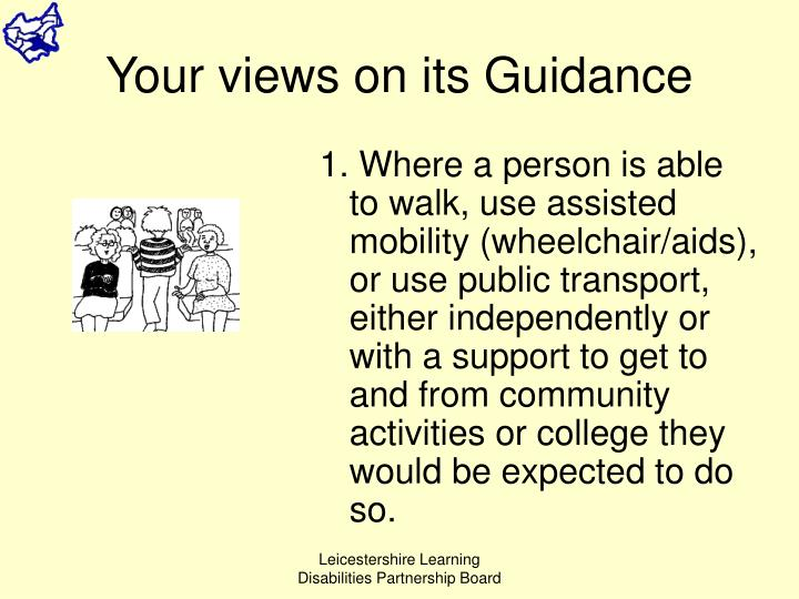 Your views on its Guidance