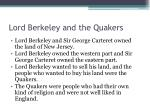 lord berkeley and the quakers
