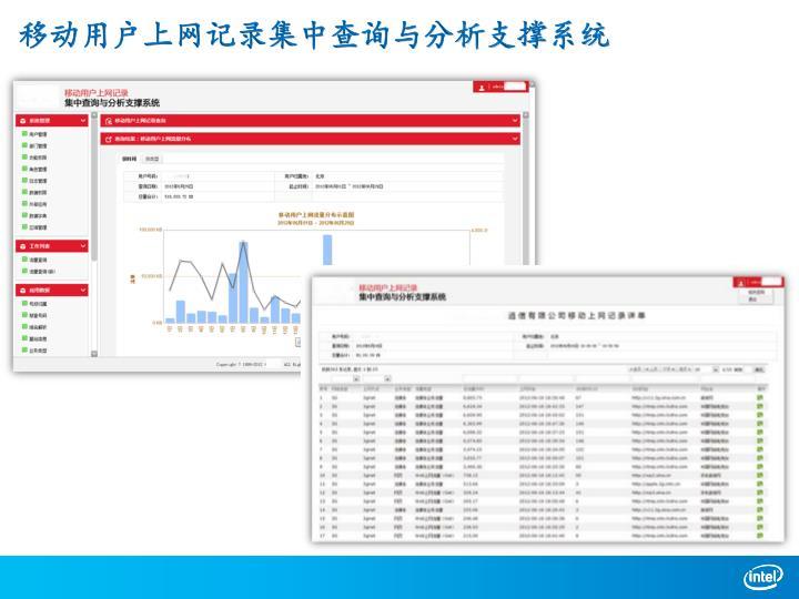 移动用户上网记录集中查询与分析支撑系统
