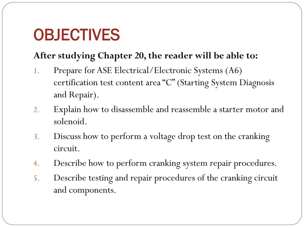 PPT - AUT 242 – Auto Electricity II PowerPoint Presentation