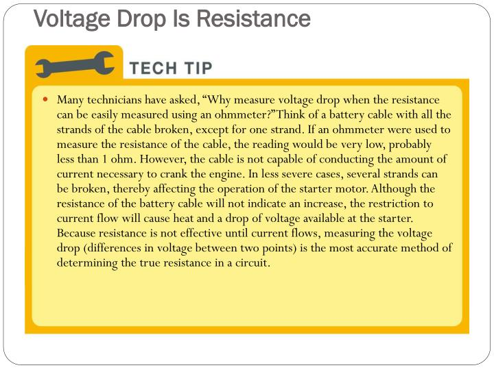 Voltage Drop Is Resistance