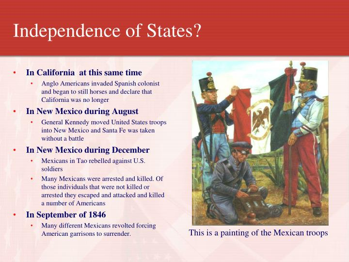 Independence of States?